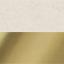 Velours blanc crème, or