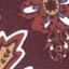 Tapicerka: ciemny fioletowy nogi: czarny, matowy