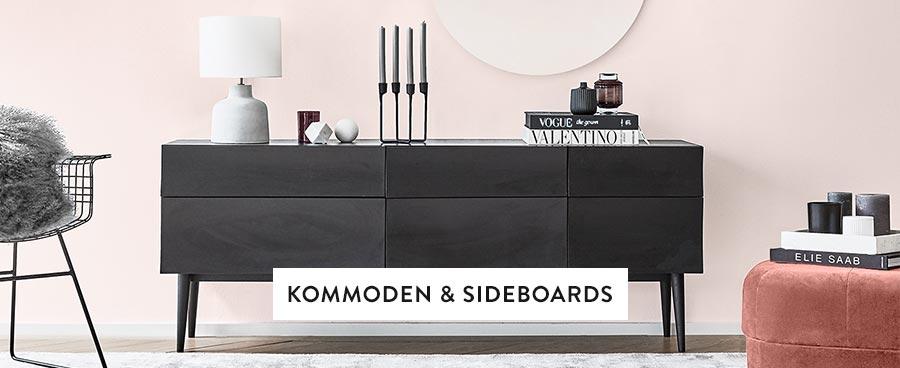 Wohnzimmer-Kommoden-Sideboards-Kerzen