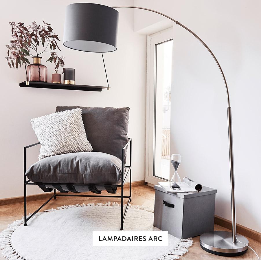 Stehleuchten-Bogenleuchten-Wohnzimmer