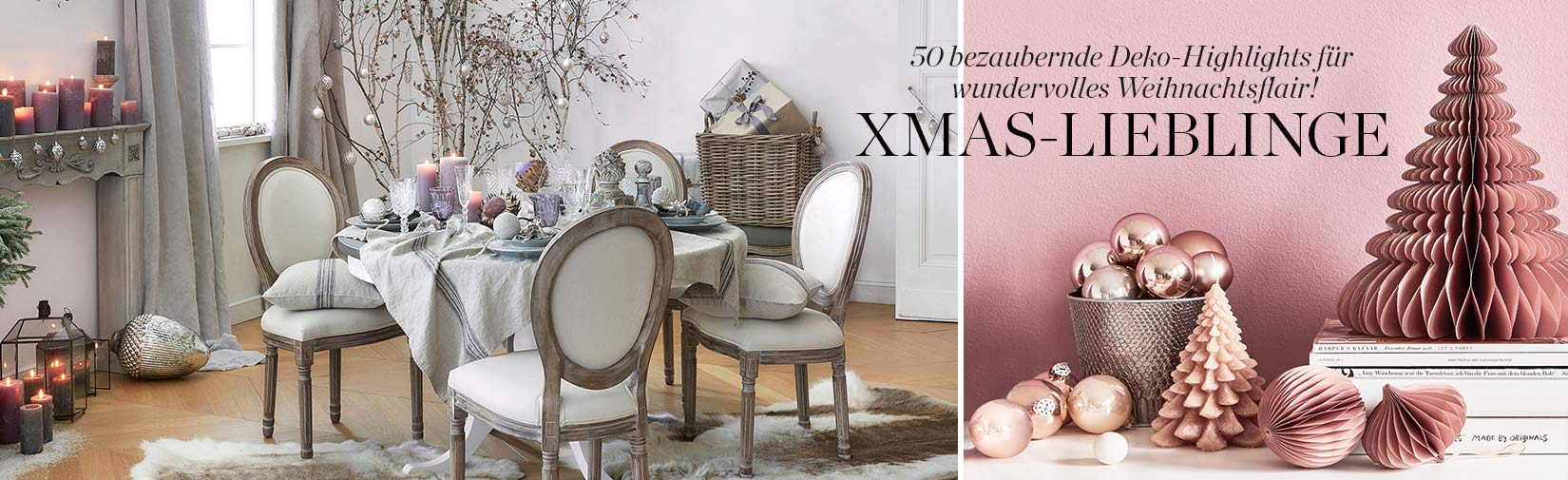Weihnachten Kerzen Kerzenschein Esszimmer Tisch Stühle Deko