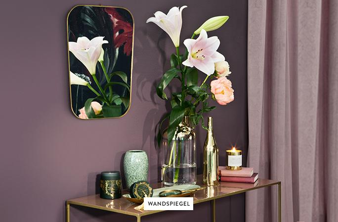 Wandspiegel Deko Blumen 2