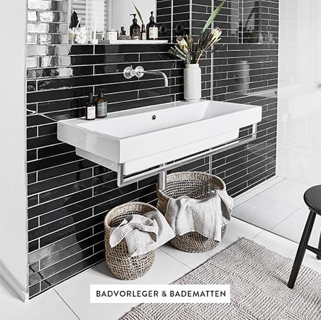 Badvorleger-Badematten-Waschbecken