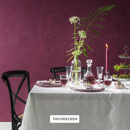 Tischdecken-Geschirr-Glaser