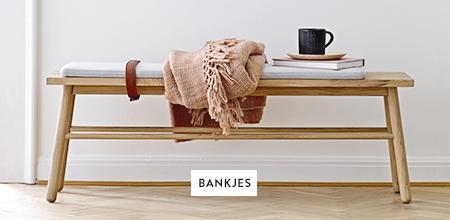 Banken-Eetkamerbankjes-Dekentjes