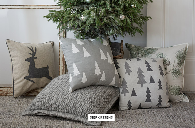 Sierkussens-Winters-Tannenboom