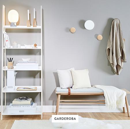 Garderoba-Ławki-Regał