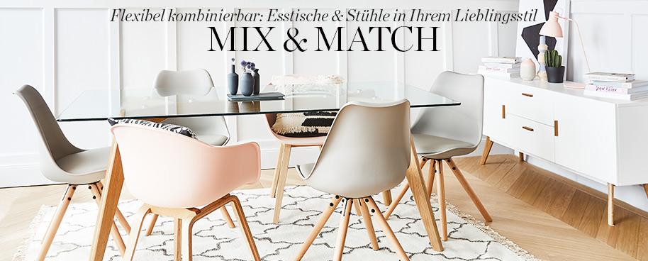 Flexibel kombinierbar: Esstische & Stühle in Ihrem Lieblingsstil