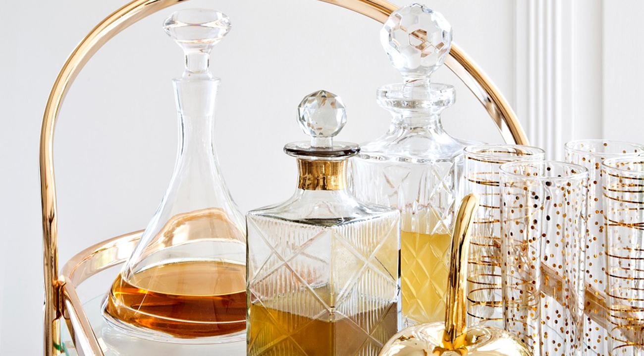 karaffe-dekanter-glas-gold