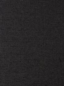 Hoekbank Fluente in donkergrijs met metalen poten, Bekleding: 100% polyester, Frame: massief grenenhout, Poten: gepoedercoat metaal, Geweven stof donkergrijs, B 221 x D 200 cm