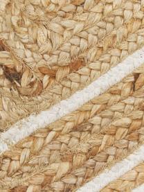 Ręcznie tkany dywan z juty Clover, 100% juta, Beżowy, biały, S 120 x D 180 cm (Rozmiar S)