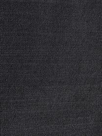 Divano angolare in tessuto grigio scuro Moby, Rivestimento: poliestere Con 60.000 cic, Struttura: legno di pino massiccio, Piedini: metallo verniciato a polv, Tessuto grigio scuro, Larg. 280 x Prof. 160 cm