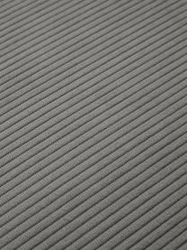 Reposapiés puf de pana Lennon, Tapizado: pana (92%poliéster, 8%p, Estructura: madera de pino maciza, ma, Patas: plástico Las patas están , Pana gris, An 88 x Al 43 cm
