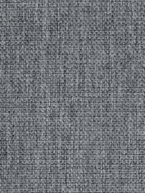 Canapé 3 places gris Emma, Tissu gris, pieds noirs