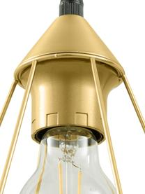 Lampada a sospensione dorata Kyle, Baldacchino: metallo spazzolato, Paralume: metallo spazzolato, Dorato, Larg. 80 x Alt. 18 cm