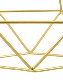 Große Pendelleuchte Kyle in Gold, Baldachin: Metall, gebürstet, Goldfarben, 80 x 18 cm
