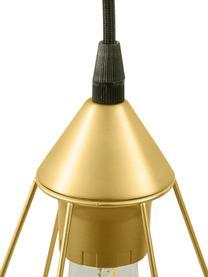 Duża lampa wisząca Kyle, Odcienie złotego, S 80 x W 18 cm