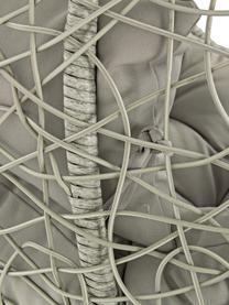 Poltrona sospesa intrecciata Amirantes, Struttura: acciaio, verniciato a pol, Seduta: fibre sintetiche, Rivestimento: poliestere, Grigio, Ø 105 x Alt. 198 cm