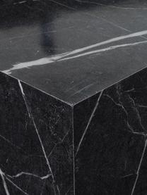 Beistelltisch Lesley in Marmoroptik, Mitteldichte Holzfaserplatte (MDF), mit Melaminfolie überzogen, Schwarz, marmoriert, 45 x 50 cm