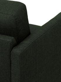 Bank Fluente (3-zits) in donkergroen met metalen poten, Bekleding: 100% polyester, Frame: massief grenenhout, Poten: gepoedercoat metaal, Geweven stof donkergroen, B 196 x D 85 cm