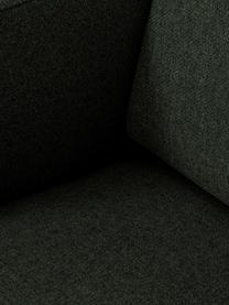 Sofa Fluente (3-Sitzer) in Dunkelgrün mit Metall-Füßen, Bezug: 100% Polyester Der hochwe, Gestell: Massives Kiefernholz, Füße: Metall, pulverbeschichtet, Webstoff Dunkelgrün, B 196 x T 85 cm