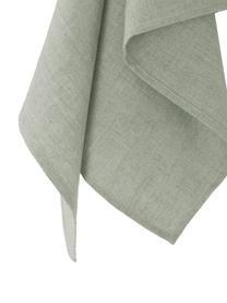 Strofinaccio in lino verde Heddie, 100% lino, Grigio-verde, Larg. 50 x Lung. 70 cm
