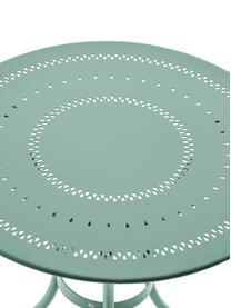 Table bistro de jardin en métal Century, Vert sauge