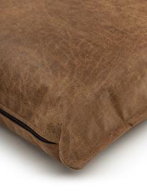 Sofa-Kissen Lennon in Braun aus recyceltem Leder, Bezug: Recyceltes Leder (70% Led, Braun, 60 x 60 cm
