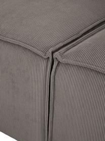 Modulares Sofa Lennon (3-Sitzer) in Braun aus Cord, Bezug: Cord (92% Polyester, 8% P, Gestell: Massives Kiefernholz, Spe, Füße: Kunststoff Die Füße befin, Cord Braun, B 238 x T 119 cm