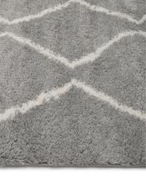 Hochflor-Läufer Velma in Grau/Cremeweiß, Flor: 100% Polypropylen, Grau, Cremeweiß, 80 x 250 cm