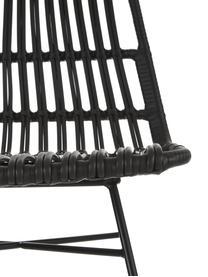 Chaise résine tressée Tulum, 2pièces, Assise: noir Structure: noir, mat