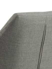 Armlehnstuhl Nora mit Metallbeinen, Bezug: 100% Polyester Der Bezug , Beine: Metall, beschichtet, Hellgrau, Schwarz, B 58 x T 58 cm