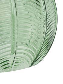 Hanglamp Luisa, Lampenkap: glas, Baldakijn: gelakt metaal, Groen, Ø 22 x H 20 cm