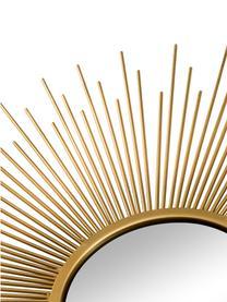 Miroir mural soleil avec cadre doré Sun, 3élém., Couleur dorée