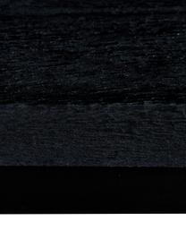 Panchina in legno di mango massiccio Raw, Seduta: legno di mango massiccio,, Struttura: metallo verniciato a polv, Seduta: legno di mango, nero verniciato Struttura: nero opaco, Larg. 170 x Alt. 47 cm