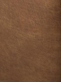 Eckmodul Lennon in Braun aus recyceltem Leder, Bezug: Recyceltes Leder (70% Led, Gestell: Massives Kiefernholz, Spe, Füße: Kunststoff Die Füße befin, Leder Braun, B 119 x T 119 cm