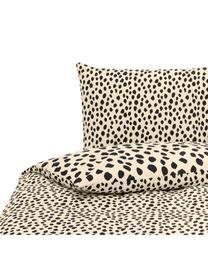 Dekbedovertrek Go Wild, Katoen, Crèmekleurig, zwart, 240 x 220 cm