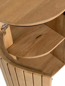 Holz-Sideboard Licia mit Türen, Korpus: Mangoholz, per Hand polie, Füße: Metall, lackiert, Beige, Schwarz, 170 x 80 cm
