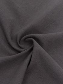 Tovagliolo in cotone Hilma con frange 2 pz, Cotone, Nero, Larg. 45 x Lung. 45 cm