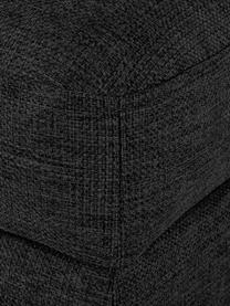 Sofa-Hocker Cucita in Anthrazit mit Stauraum, Bezug: Webstoff (Polyester) Der , Gestell: Massives Kiefernholz, Füße: Metall, lackiert, Anthrazit, 75 x 46 cm