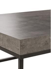Salontafel Ellis in betonlook, Zwart, betonkleurig, 120 x 38 cm