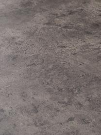 Tavolino da salotto effetto cemento Ellis, Piano d'appoggio: struttura a nido d'ape le, Rivestimento: pannello di fibra a media, Struttura: metallo verniciato, Nero, colori calcestruzzo, Larg. 120 x Alt. 38 cm