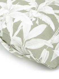 Baumwoll-Bettwäsche Shanida in Grün/Cremeweiß, Webart: Renforcé Fadendichte 144 , Grün, 135 x 200 cm + 1 Kissen