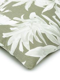 Pościel z bawełny Shanida, Zielony, 135 x 200 cm + 1 poduszka 80 x 80 cm