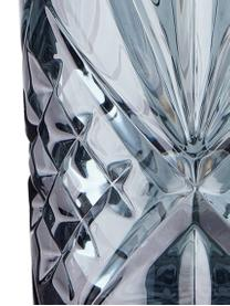 Longdrinkgläser Crystal Club mit Kristallrelief, 4 Stück, Glas, Grau, Ø 8 x H 14 cm