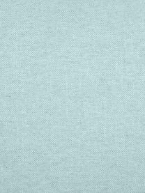 Kissenhülle Tine in Mintblau mit Fransen, Webart: Jacquard, Mintblau, 40 x 40 cm