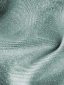 Divano 2 posti a forma di S in velluto turchese Gatsby, Rivestimento: velluto (poliestere) 25.0, Struttura: legno di eucalipto massic, Piedini: metallo, zincato, Turchese, Larg. 173 x Prof. 87 cm