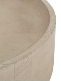 Beistelltisch Benno aus Mangoholz, Massives Mangoholz, lackiert, Beton, Mangoholz, grau gewaschen, ∅ 50 x H 50 cm