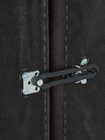 Mittelmodul Lennon in Braungrau aus recyceltem Leder, Bezug: Recyceltes Leder (70% Led, Gestell: Massives Kiefernholz, Spe, Füße: Kunststoff Die Füße befin, Leder Braungrau, B 89 x T 119 cm