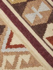 Ręcznie tkany dywan kilim z wełny Malu, 100% wełna, Brązowy, beżowy, żółty, S 120 x D 180 cm (Rozmiar S)